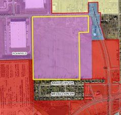UPS Expansion, 10095 Bradford Road Aerial Map