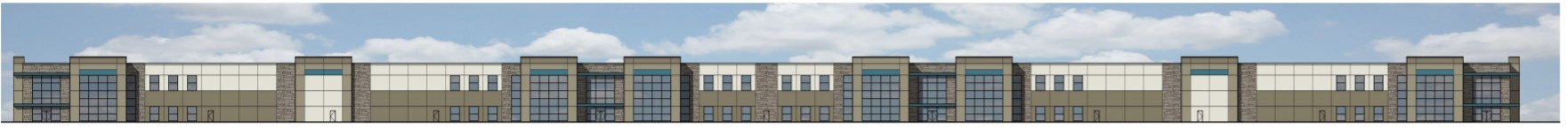 Full Building elevation for the HSA Indy Gateway 7 Project