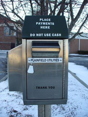 Utility Payment Drop Box